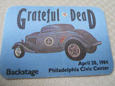 Grateful Dead - April 20, 1984 - Civic Center Philadelphia - backstage pass