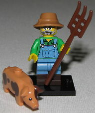 LEGO NEW SERIES 15 FARMER 71011 MINIFIGURE WITH PIG MINIFIG FIGURE