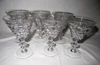 "6 Westmoreland THOUSAND EYE CRYSTAL 4 5/8"" 2oz WINE Glasses"