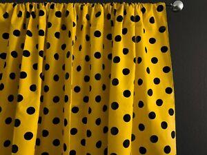 Cotton Polka Dot Print Curtain Panel Home Decor/Window Treatment/Backdrop