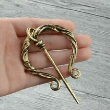 Large Viking/Celtic Forged Penannular Brooch, Costume/Cloak/Kilt/Scarf Pin Gold