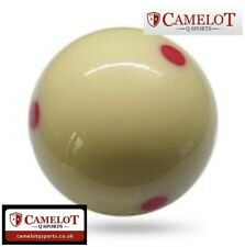 1 INCH 7/8 SPOTTED POOL WHITE BALL (UK STANDARD SIZE)