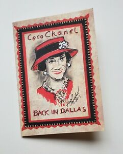 RARE 'Chanel Back in Dallas' Invitation Karl Lagerfeld Coco Chanel Portrait 2013