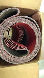 """VSM 283695 Abrasive Belt, Med Grade, Cloth Backing, Ceramic, 60 Grit 4"""" Width"""