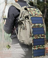 USB portable solar 4 panels Battery charger 8W 5V/ Power Bank/Camping Outdoor