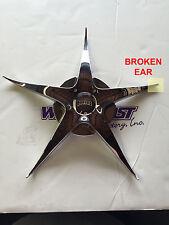 DUB REMIX 6 Spoke Chrome Wheel Replacement Center Cap PART# 8320-65 BROKEN TIP