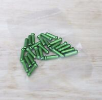 Bike Bicycle Brake Derailleur Shifter Cable End Caps tips Green color 25 pcs