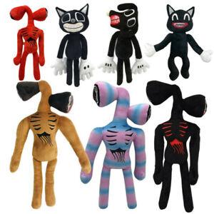 Siren Head Horror Black Cat Cartoon Plush Stuffed Doll Kids Gifts Toy