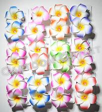 12 PLUMERIA FLOWER 6 SETS WEDDING HAIR CLIPS BRIDAL QUINCEANERA FAVORS HAWAIIAN