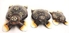 Tortugas Set de 3 unid Tortuga Tortuga Animales Figura Animal Figura Decorativa
