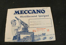 catalogue Meccano Dinky Toys Holland Maart 1952 Merkelbach Amsterdam rare