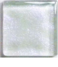 50 Tiles - 3/8 inch IRIDESCENT CRYSTAL WHITE Metallic Glass Mosaic Tiles