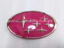 SUBARU IMPREZA 22B FRONT GRILL PINK STAR BADGE LOGO EMBLEM RARE JDM GC8 WRX STI