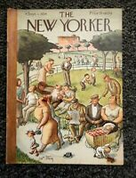The New Yorker Magazine ~ sept.1, 1934 ~ WILLIAM STEIG cover-Crowd In The Park