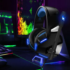 Gaming Kopfhörer Headset Mikrofon LED 3.5mm für PC Laptop PS4 Xbox One Switch