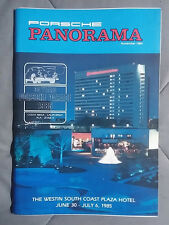 1984 NOVEMBER PORSCHE PANORAMA MAGAZINE CARRERA 911 928 944 924 356 TURBO