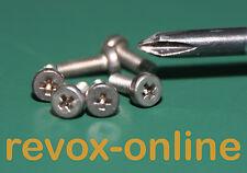1 Satz (6 Stück) Schrauben Edelstahl, für die Bandteller der Studer / Revox A700