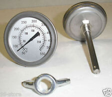 "Lot of 4pcs F&C 3"" BBQ SMOKER/PIT/GRILL THERMOMETER TEMP GAUGE !"
