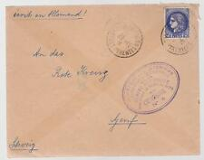 1942 France Concentration Internment Camp de Gurs prisoner Cover to Red Cross