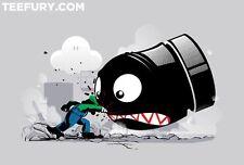 ✰ TeeFury LUIGI: ALWAYS ANGRY S T-Shirt - Nintendo Super Mario Brothers Video ✰