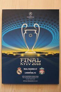 2018 UEFA CHAMPIONS LEAGUE FINAL PROGRAMME *REAL MADRID V LIVERPOOL*(26/05/2018)