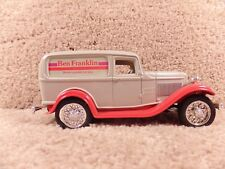 ERTL 1/25 Diecast Replica 1932 Ford Panel Delivery Van Ben Franklin Coin Bank
