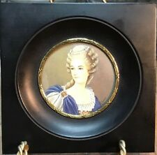 Antique French Miniature Portrait of Princess de Lamballe by Charny (1748-1802)
