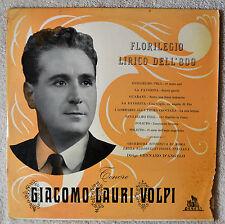 "Giacomo Lauri Volpi Florielegio Lirico Dell 800 10"" LP Opera Tenor Italian NM"