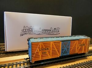 "TYCO 312-H HO Scale 40' Single Door Stock Car ""Laramie"" Ready to Run"
