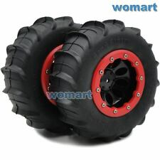 2pcs 1/10 RC 4WD 2.2 Sand Storm Paddle Tires 114mm & Crawler 2.2 Beadlock Rims