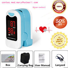 Pulse Oximeter Finger Portable Heart Rate SPO2 Monitor Blood Oxygen Meter Sensor