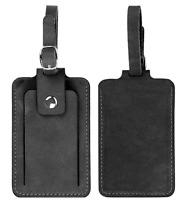 travel luggage handbag baggage suitcase ID tag cow Leather handmade black z843