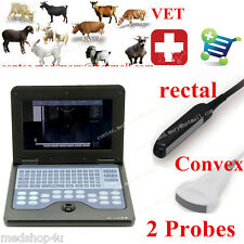 VET Veterinary Ultrasound Scanner For Equine/cows/sheep use Rectal +Convex probe