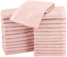 24 (2 DOZEN) SOFT 100% COTTON WASHCLOTHS FACE TOWELS PREMIUM BATH HOTEL QUALITY