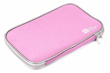 "DURAGADGET 18"" Water Resistant Neoprene Laptop Case With Sturdy Twin Zip In Pink"