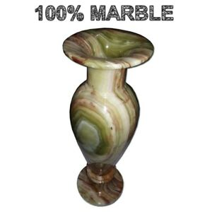 JT Handmade Marble Flower Vase Plant pot Elegant Home Decor 12 inches