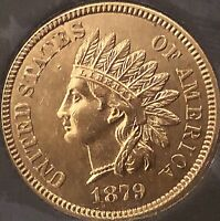 1879 INDIAN HEAD, NEAR 4 DIAMONDS***BEAUTIFUL COIN***Cleaned
