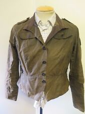 Barbour L2006 Short Shaped Peplum Jacket - UK 12 Euro 38 in Brown