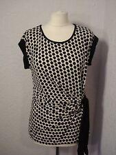 Wallis black & white jersey asymmetric tunic top 12