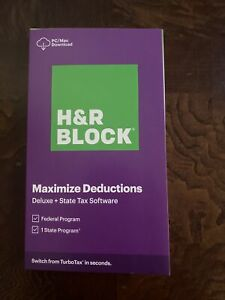 2020 H & R Block Maximize Deductions Deluxe + State & Federal PC/Mac DOWNLOAD