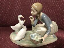 New ListingLladro Girl Feeding Ducks or Geese 914