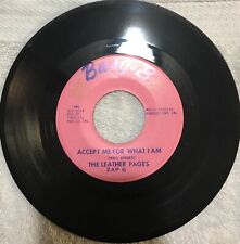 The Leather Pages: 🇺🇸 Accept Me For What I Am Rare Garage Psych Rock Pop 45