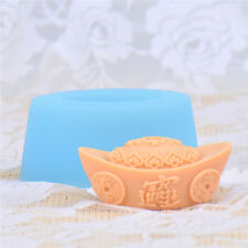 Ingot Shaped Silicone Soap Molds Candle Making Tools Diy Chocolate Resin Craft