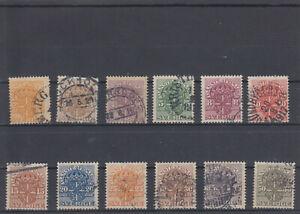 Schweden  1911/19  Dienstmarken Lot aus  Mi. 31 - 44  gest.