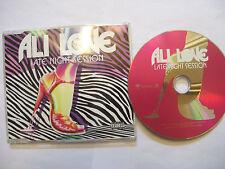 ALI LOVE Late Night Session – 2007 UK CD  – House, Electro, Glam - BARGAIN!