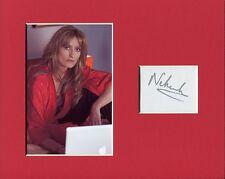 Natascha McElhone The Truman Show Californication Signed Autograph Photo Display