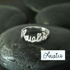 Personalized Name Ring Memorial Signature Ring Handwriting Ring Bridesmaid gift