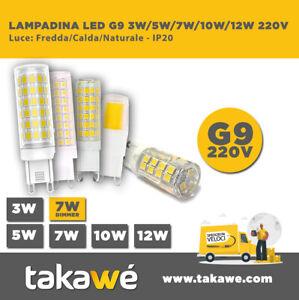 LAMPADA LED SMD 3W/5W/7W/10W/12W 360° G9 - FREDDA/CALDA/NATURA 220V 7W DIMMER