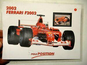 2002 FERRARI F2002 - FRANCOBOLLO E SCHEDA TECNICA - BOLAFFI