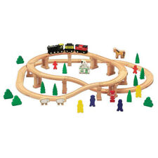 Beeboo Holzeisenbahn Set 60 tlg Schienen bunter Holzzug Haus Bäume Figuren Tiere